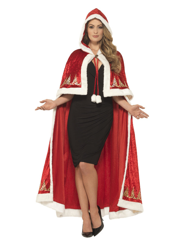 Luxe Miss claus Cape