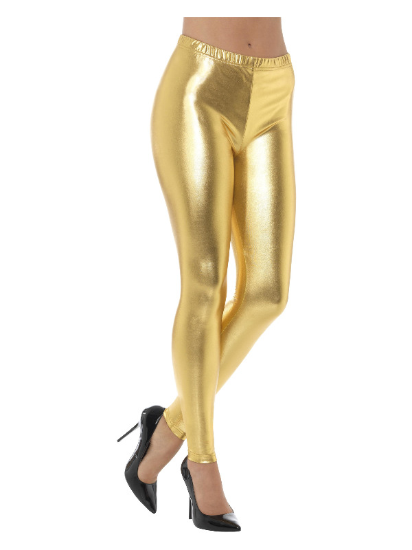 80s metalen Disco legging