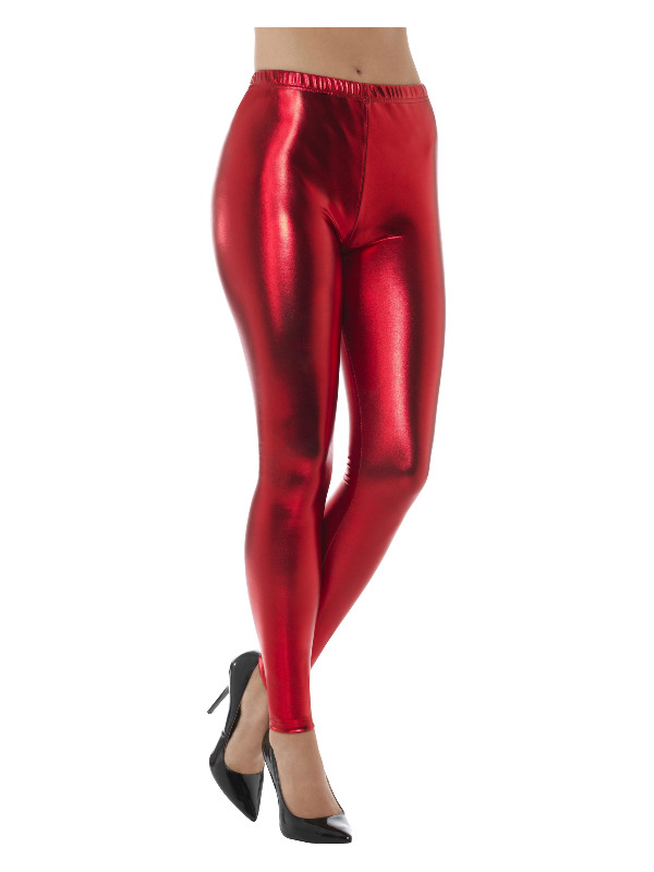 Legging Disco Metalic Rood