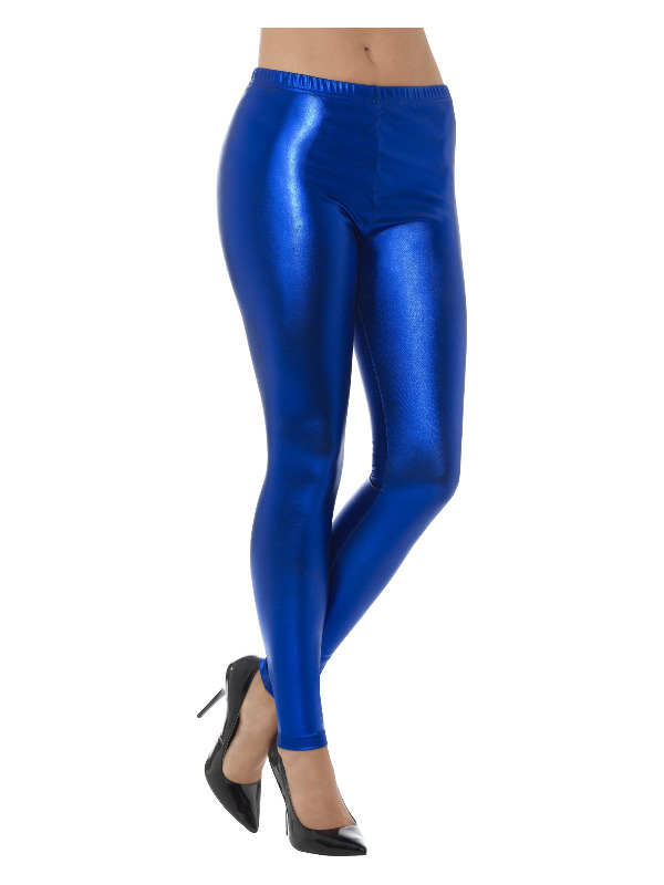 Legging Disco Metalic Blauw