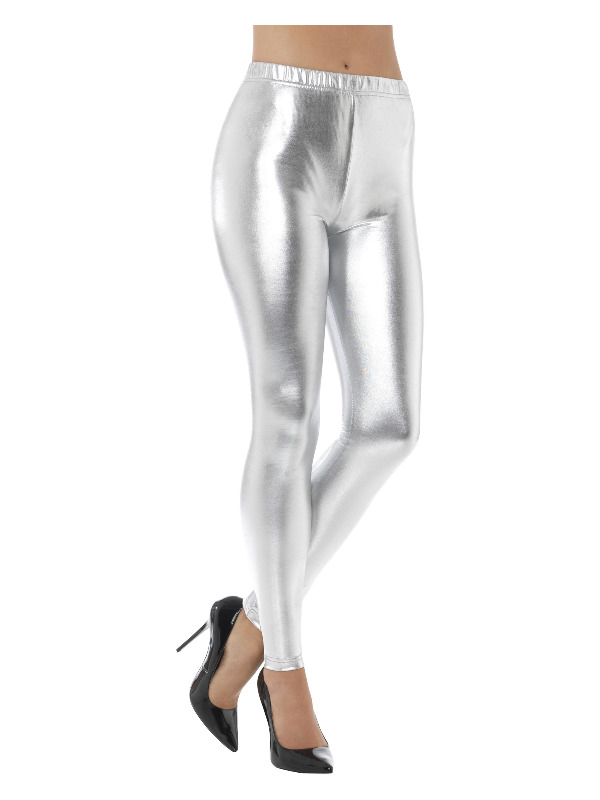 Legging Disco Metalic Zilver