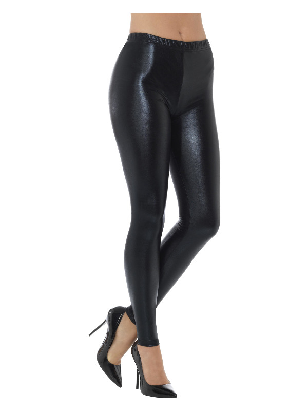 Legging Disco Metalic Zwart