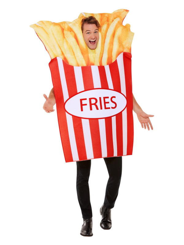 Fries Costume Red White